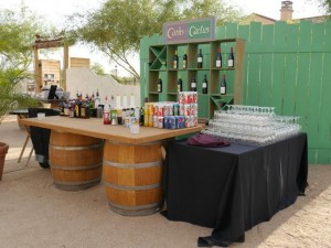wine barrel, flagstaff weddings